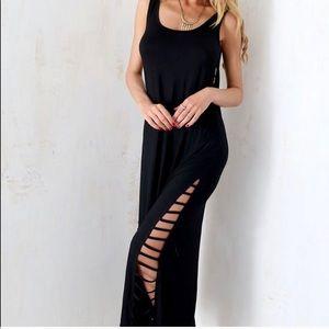 Ladder cut out maxi dress